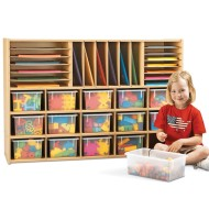 Young Time™ Sectional Cubbie Storage w/ clear trays