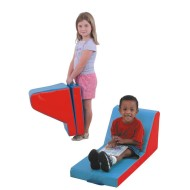 Cozy Time Lounger, Red/Blue