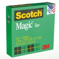 "Scotch® Magic™ Tape 810, 1"" (pack of 3)"