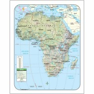 Africa Shaded Relief Map (Laminated)