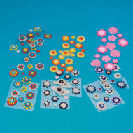 Felt Button Stickers (pack of 12)