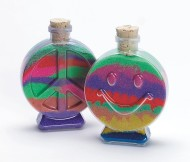 Smile and Peace Sand Art Bottle Assortment (pack of 6)