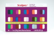 Sculpey® Polymer Clay Sampler 1-oz. Colors (pack of 30)