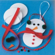 Snowman Ornament Craft Kit (makes 12)