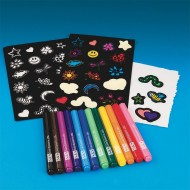 Velvet Art Stickers Craft Kit (makes 12)