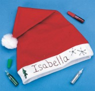Holiday Santa Hat Craft Kit (makes 12)