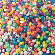 Pearl Alpha Beads 1/2-lb Bag