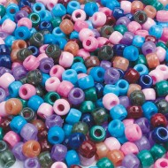 Semiprecious Pony Beads 1/2-lb Bag