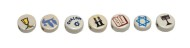 Judaic Symbols Bead Assortment  (bag of 49)