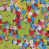 Specialty Star Buttons 1/2-lb Bag
