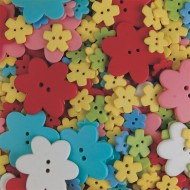 Specialty Flower Buttons 1/2-lb Bag