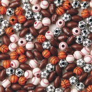 Sport Bead Assortment Pk/600