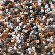 Fuzzy Pony Beads Asst. Natural Colors (bag of 850)