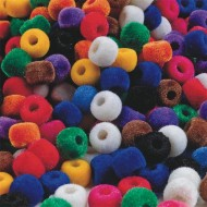 Fuzzy Pony Beads 1/2 lb Bag (bag of 850)