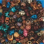 Moroccan Bead Mix 1/4 lb Bag
