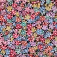 Flower Shape Beads 1/2lb. Bag