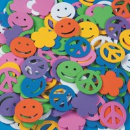 Color Splash!® Shapes w/out Adhesive – Peace Signs, 800 pcs.