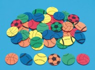 Color Splash!® Sports Shapes w/Adhesive, 500 pcs.