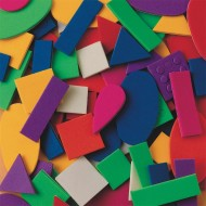 Color Splash!® Foam Shapes w/ Adhesive, 1,100 pcs.