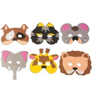 Foam Animal Mask Kit  (pack of 24)