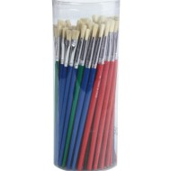Bristle Brush Assortment Pack, White (pack of 72)