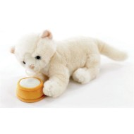Interactive Plush White Persian Cat