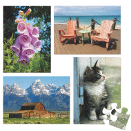 E-Z™ Puzzles, 12 Pieces (set of 4)