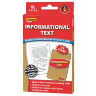 Informational Text Reading Comprehension Cards: Red Level (set of 40)