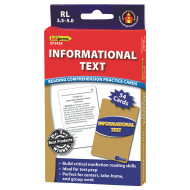 Informational Text Reading Comprehension Cards: Blue Level (set of 40)