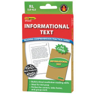 Informational Text Reading Comprehension Cards: Green Level (set of 40)