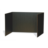 "Black Privacy Boards 48"" x 16"" (pack of 4)"