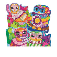 Owl Sticky Mosaics (set of 4)