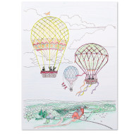 Color and Stitch: Hot Air Balloons (makes 12)
