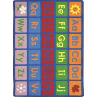 "Any Day Alphabet Rug, 7'8"" x 10'9"