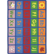 "Any Day Alphabet Rug, 10'9"" x 13'2"""