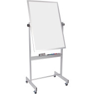 Mobile White Board with Aluminum Trim