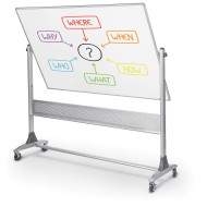 Deluxe Platinum Reversible White Board