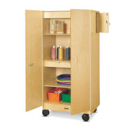 Mobile Hideaway Storage Cabinet