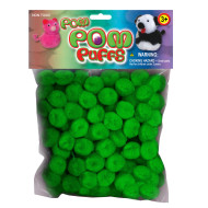 Green Pom Poms (pack of 100)