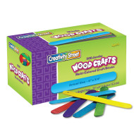 "Jumbo Colored Craft Sticks 6""x 3/4"" (pack of 500)"