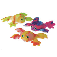 "Plush Tie Dye Frogs, 7-1/2"" (pack of 12)"