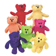 Plush Beanbag Teddy Bears 6-1/2<in/> (pack of 12)