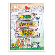 Paint-a-Dot™ Camp Sign Poster (makes 24)