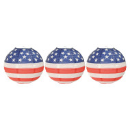 Patriotic Paper Lanterns (pack of 3)
