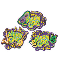 Mardi Gras Cutouts (pack of 3)
