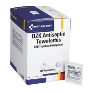 First Aid Only™ BZK Antiseptic Towelettes