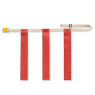 Triple Threat Belt with Red Flag - Large