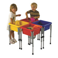 4 Station Square Sand & Water Table with Lids