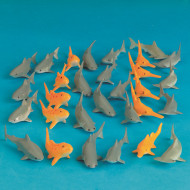 Plastic Play Sharks (pack of 30)
