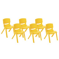 "Resin Stack Chairs - 12"" (set of 6)"